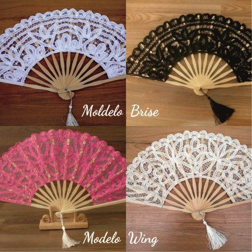 Abanicos de encaje para novias modelos Brise y Wing