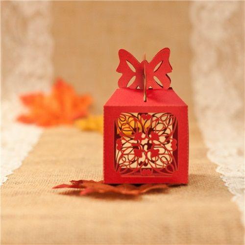 Caja de favor para boda modelo BUTTERFLY