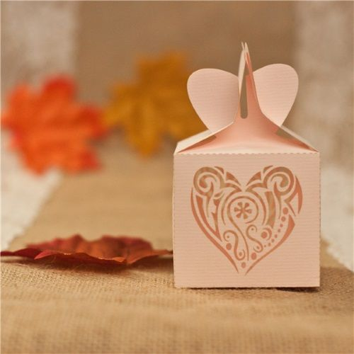 Caja de favor para boda modelo HEART