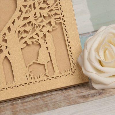 invitacion de boda modelo autor color dorado nacarado