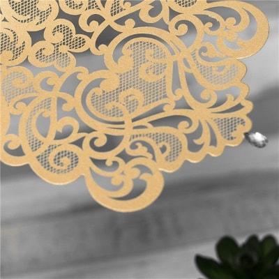 invitacion de boda modelo ceremony color dorado nacarado