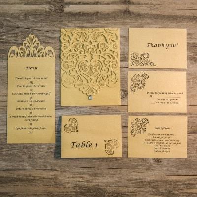 invitacion de boda modelo ceremony con accesorios