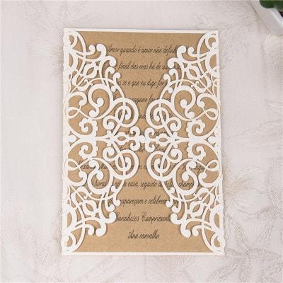 invitacion de boda modelo dulce color blanco nacarado