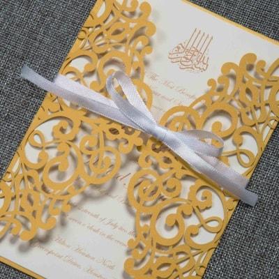 invitacion de boda modelo dulce color dorado nacarado