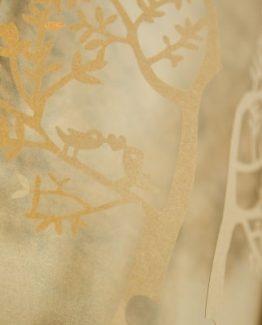 invitacion de boda modelo tree color dorado nacarado