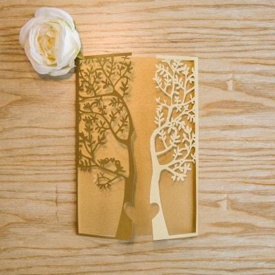 invitacion de boda modelo tree color dorado nacarado1